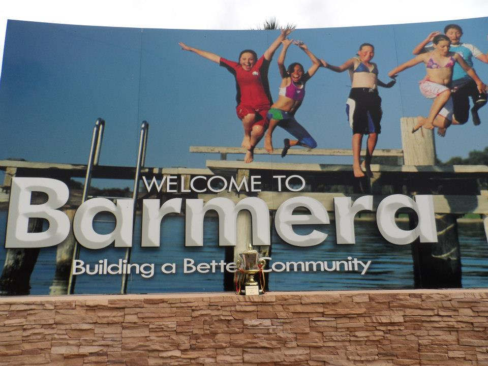 Check out the photo's of the Cup at the gates into Barmera