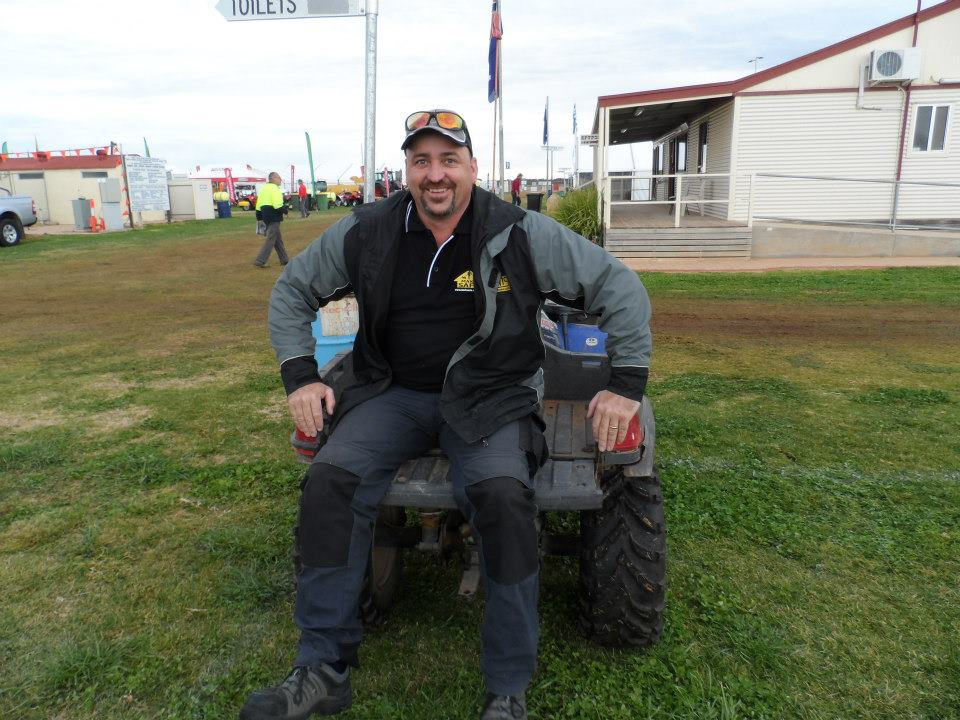 Nathan enjoying a quad bike ride to check out track conditions